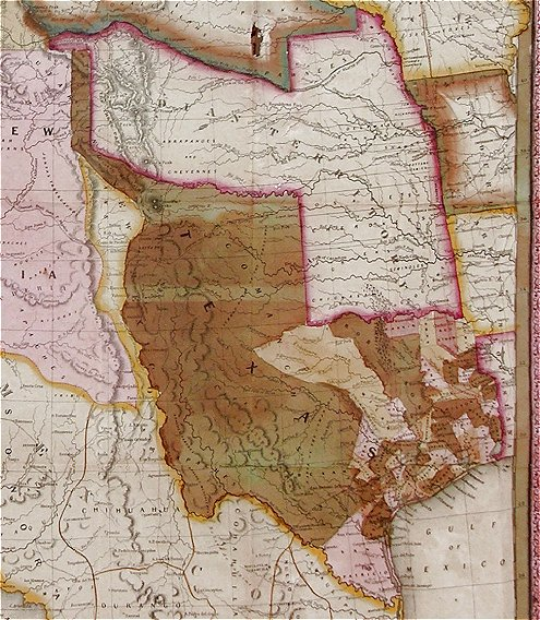 The Map Shows In Detail The Western Portion Of The U S To The Pacific With The Indian Territory Missouri Territory Iowa And Portions Of The States Of